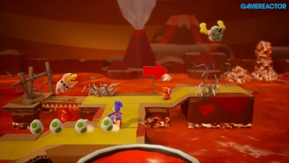 Yoshi's Crafted World - Poochy's Magma Run Gameplay
