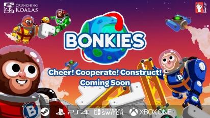 Bonkies - Cheer! Cooperate! Construct! Gameplay Trailer