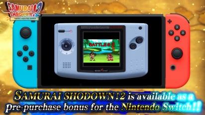 Samurai Shodown - Trailer Nintendo Switch