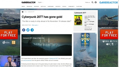 GRTV News - Cyberpunk 2077 has gone gold