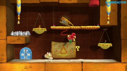 Yoshi's Woolly World - World 2 Co-op Gameplay (2-2, 2-3, 2-7)