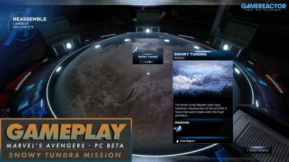 Marvel's Avengers - Snowy Tundra Mission & HARM Tutorial PC Beta Gameplay