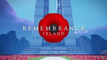 Remembrance Island - A living memorial to Canada's fallen inside Fortnite
