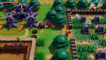 The Legend of Zelda: Link's Awakening - Overworld Gameplay