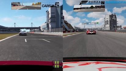 Forza Motorsport 7 vs Project CARS 2 vs Forza 6 Comparison