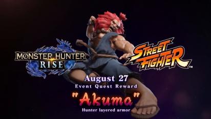Monster Hunter Rise - Street Fighter Collab Trailer