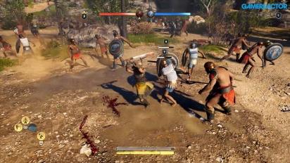 Assassin's Creed Odyssey - gameplay ukazujący Podbój w Megaris