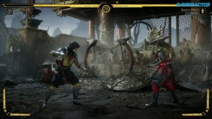 Mortal Kombat 11 - Raiden vs. Scorpion Reveal Event Gameplay